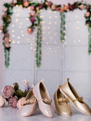 کفش دخترانه گلدار