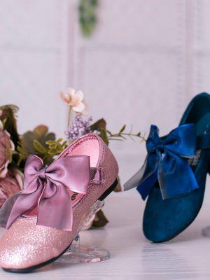 کفش دخترانه با پاپیون ساتن